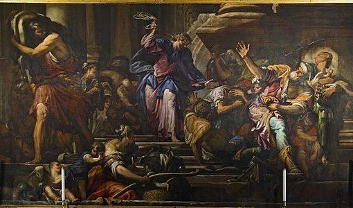 Gesù scaccia i mercanti dal tempio